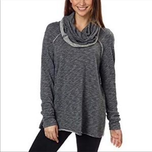 Free People Cocoon Cowl Neck Top - Charcoal XS/S